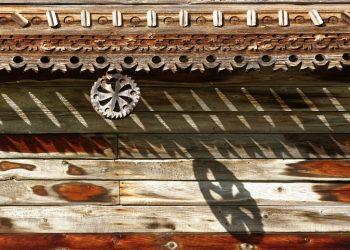 Узоры деревянной фактуры дома Яковлева. Музей-заповедник Кижи